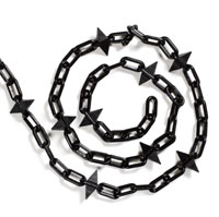 Black spiked plastic chain 6mm (30 metres)