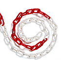 Plastic chain red and white 8mm (25 metres)