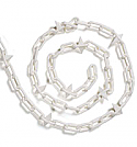 White spiked plastic chain 6mm (30 metres)